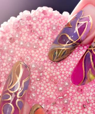Acrylic Nail Art - Obrázkek zdarma pro 640x960