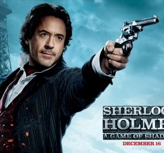 Robert Downey Jr In Sherlock Holmes 2 - Obrázkek zdarma pro 320x320