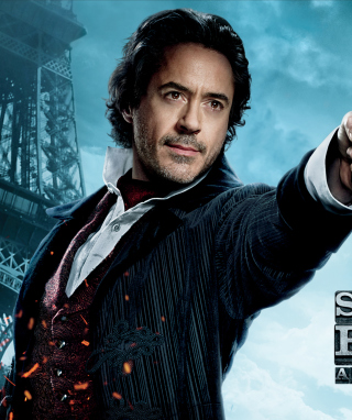 Robert Downey Jr In Sherlock Holmes 2 - Obrázkek zdarma pro 320x480