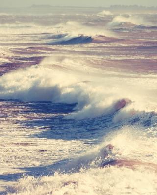 Foamy Waves - Obrázkek zdarma pro iPhone 4S