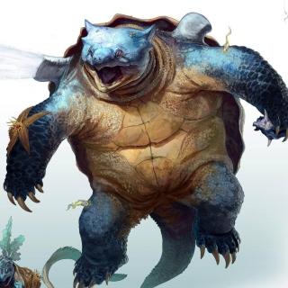 Monster Turtle - Obrázkek zdarma pro 320x320