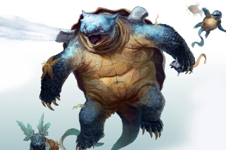 Monster Turtle Wallpaper for Android, iPhone and iPad
