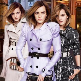 Emma Watson In Burberry - Obrázkek zdarma pro iPad mini