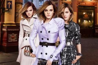 Emma Watson In Burberry - Obrázkek zdarma pro HTC One