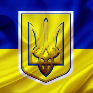 Flag and Coat of arms Of Ukraine - Obrázkek zdarma pro iPad Air