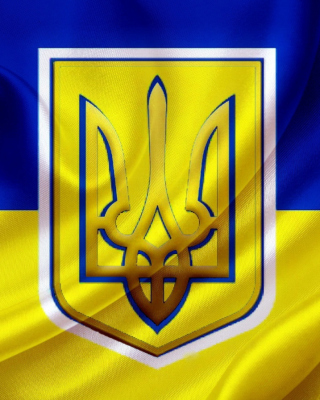 Flag and Coat of arms Of Ukraine - Obrázkek zdarma pro iPhone 5S