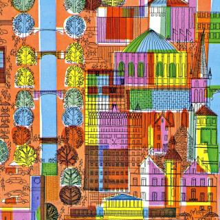Town Illustration and Clipart - Obrázkek zdarma pro iPad mini 2