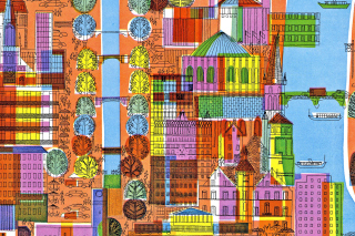 Town Illustration and Clipart - Obrázkek zdarma pro Widescreen Desktop PC 1280x800