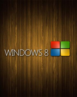 Windows 8 Wooden Emblem - Obrázkek zdarma pro 750x1334