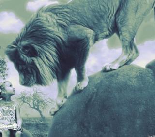 Kid And Lion - Obrázkek zdarma pro iPad Air