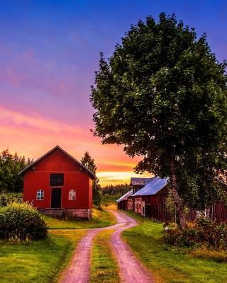 Countryside Sunset - Obrázkek zdarma pro 360x400