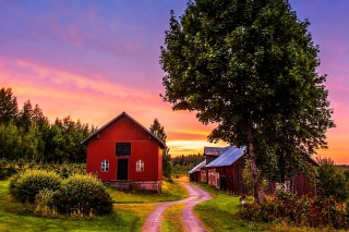 Countryside Sunset Wallpaper for Android, iPhone and iPad