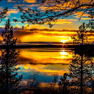 Sunrise and Sunset HDR - Obrázkek zdarma pro 320x320