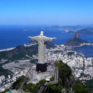 Christ the Redeemer statue in Rio de Janeiro - Obrázkek zdarma pro 320x320