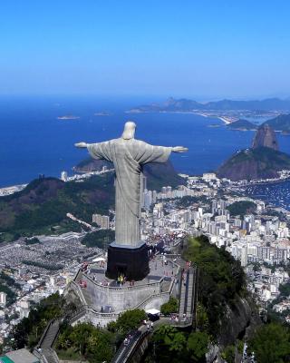 Christ the Redeemer statue in Rio de Janeiro - Obrázkek zdarma pro 176x220