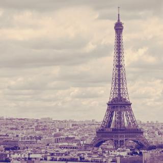 Eiffel Tower Landmark Color - Obrázkek zdarma pro 1024x1024