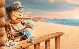 Old Pinocchio Background for Android, iPhone and iPad