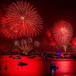 Asian Holiday fireworks - Obrázkek zdarma pro iPad 2