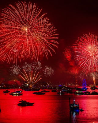 Asian Holiday fireworks - Obrázkek zdarma pro 320x480