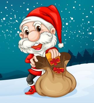Happy Santa - Obrázkek zdarma pro iPad mini 2
