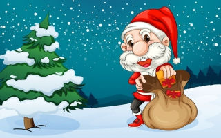 Free Happy Santa Picture for Android, iPhone and iPad