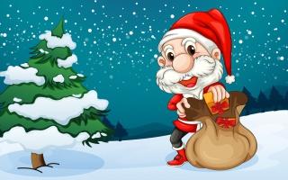 Happy Santa - Obrázkek zdarma pro 1152x864