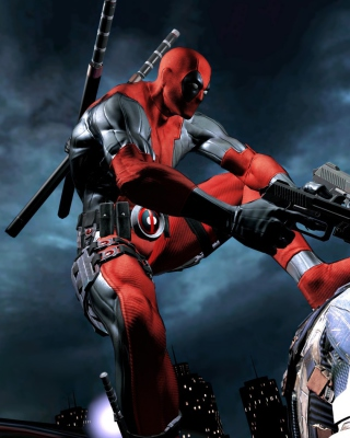 Deadpool Superhero Film - Obrázkek zdarma pro 640x960