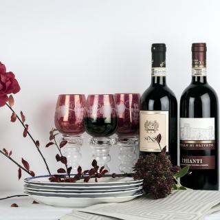 Chianti Wine from Tuscany region - Obrázkek zdarma pro iPad