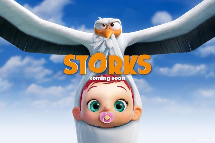 Storks HD wallpaper