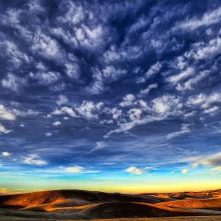 Desktop Desert Skyline - Obrázkek zdarma pro 208x208