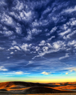 Desktop Desert Skyline - Obrázkek zdarma pro 750x1334