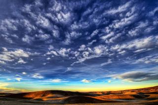 Desktop Desert Skyline - Obrázkek zdarma pro Android 320x480