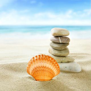 Sea Shells Beach - Obrázkek zdarma pro 128x128