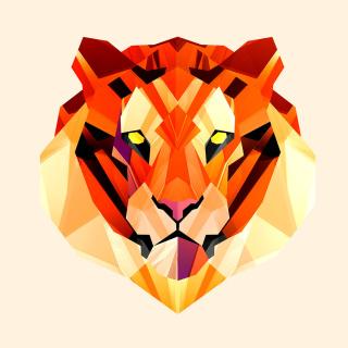 Polygon Tiger - Obrázkek zdarma pro 208x208
