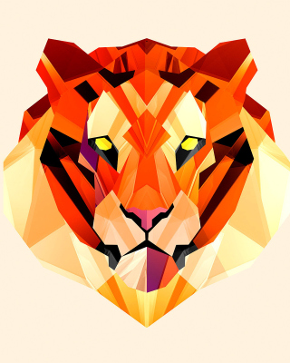 Polygon Tiger - Obrázkek zdarma pro Nokia Asha 309