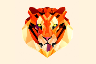 Polygon Tiger - Obrázkek zdarma pro Google Nexus 5