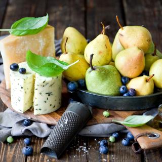 Pears and cheese DorBlu - Obrázkek zdarma pro 208x208