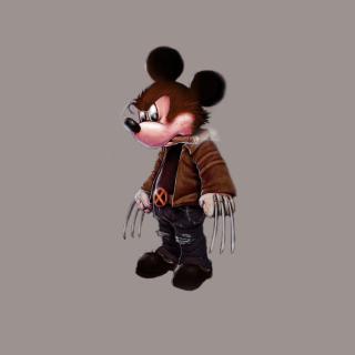Mickey Wolverine Mouse - Obrázkek zdarma pro iPad