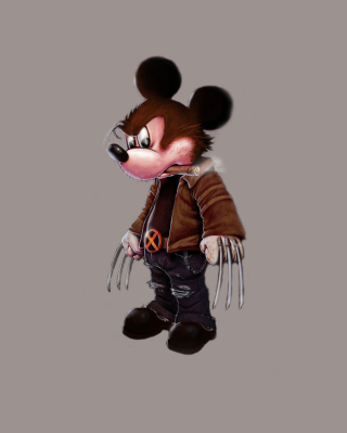 Mickey Wolverine Mouse - Obrázkek zdarma pro 360x480