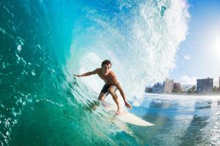 Catching Big Wave - Obrázkek zdarma pro 1600x1200