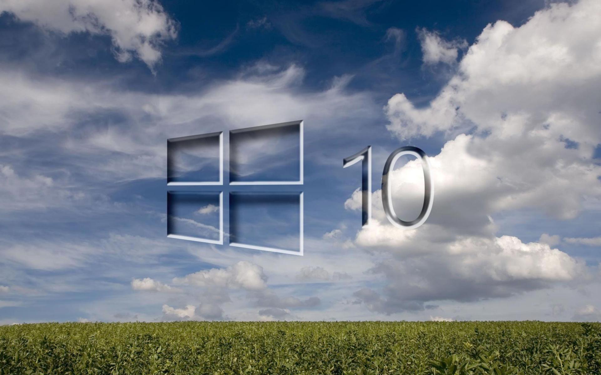 Windows 10 Grass Field Wallpaper For Widescreen Desktop PC