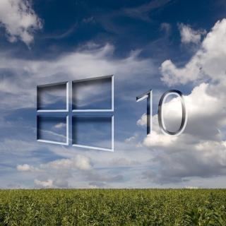 Windows 10 Grass Field - Obrázkek zdarma pro iPad 2