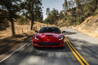 2014 Red Chevrolet Corvette Stingray - Obrázkek zdarma pro Desktop Netbook 1024x600