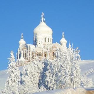 Winter Church - Obrázkek zdarma pro 128x128