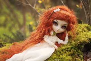 Curly Redhead Doll Wallpaper for Android, iPhone and iPad