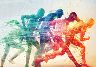 Running Men - Obrázkek zdarma pro 1280x800