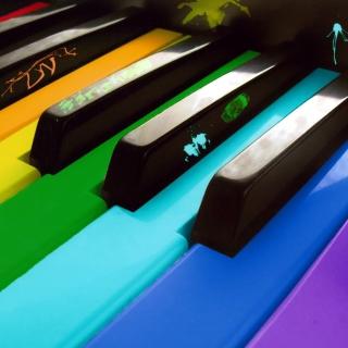 Colorful Piano Keyboard - Obrázkek zdarma pro 320x320
