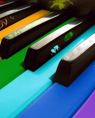 Colorful Piano Keyboard - Obrázkek zdarma pro Nokia X7