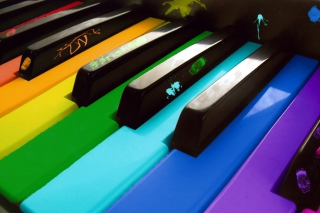 Colorful Piano Keyboard - Obrázkek zdarma pro Android 720x1280