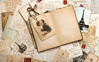 Vintage Letters Wallpaper for Android, iPhone and iPad